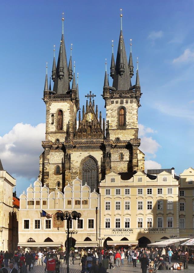 Прага, церковь Tyn стоковое изображение