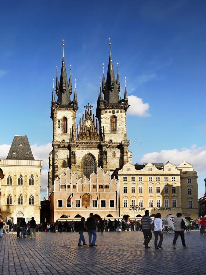 Прага, церковь Tyn стоковые изображения rf