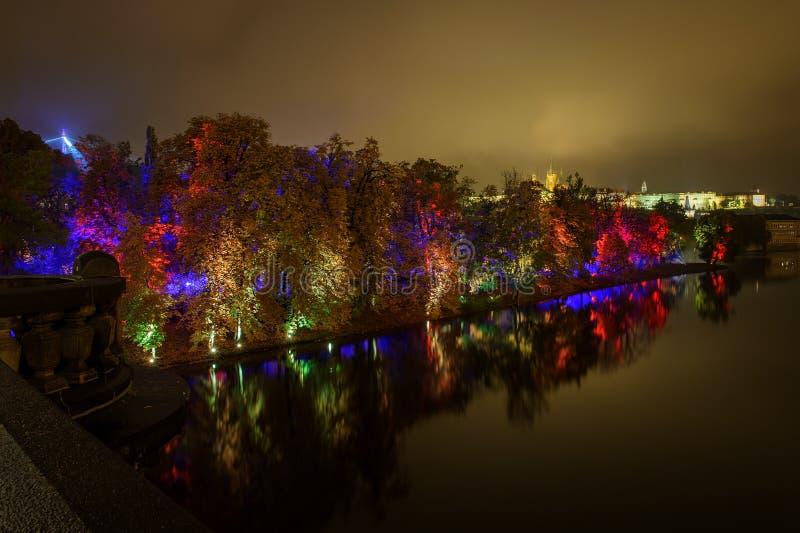 ПРАГА, ЧЕХИЯ - 15-ОЕ ОКТЯБРЯ: Фестиваль 2015 сигнала стоковая фотография rf