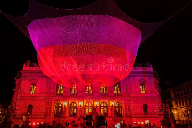 ПРАГА, ЧЕХИЯ - 17-ОЕ ОКТЯБРЯ: Фестиваль 2015 сигнала стоковые фото