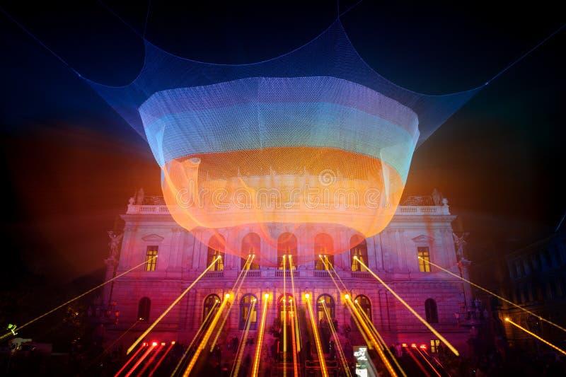 ПРАГА, ЧЕХИЯ - 17-ОЕ ОКТЯБРЯ: Фестиваль 2015 сигнала стоковые изображения