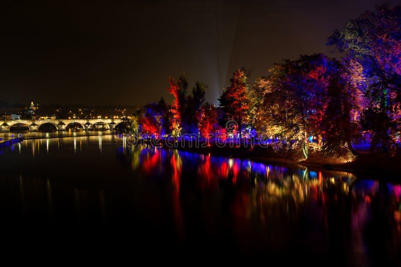 ПРАГА, ЧЕХИЯ - 17-ОЕ ОКТЯБРЯ: Фестиваль 2015 сигнала стоковые изображения rf
