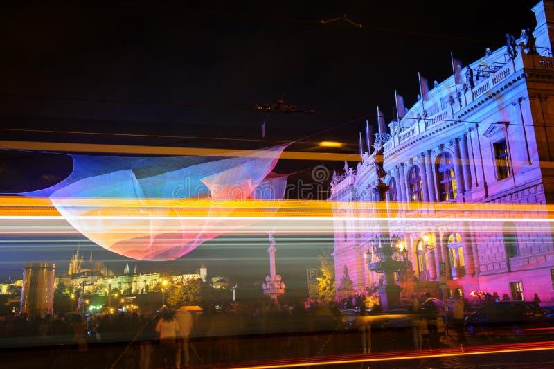 ПРАГА, ЧЕХИЯ - 17-ОЕ ОКТЯБРЯ: Фестиваль 2015 сигнала стоковые фотографии rf