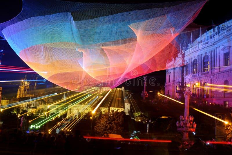 ПРАГА, ЧЕХИЯ - 17-ОЕ ОКТЯБРЯ: Фестиваль 2015 сигнала стоковая фотография