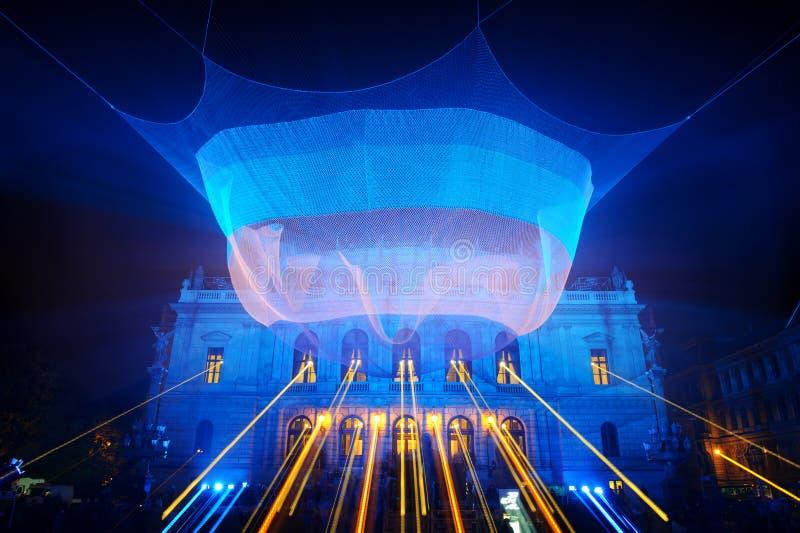 ПРАГА, ЧЕХИЯ - 17-ОЕ ОКТЯБРЯ: Фестиваль 2015 сигнала стоковое изображение