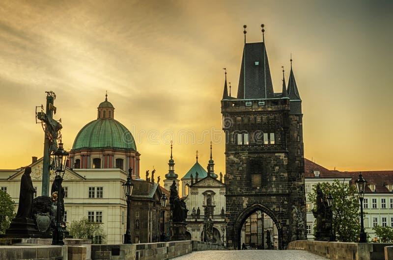 Прага, чехия: Чарльз или мост Karluv стоковое фото