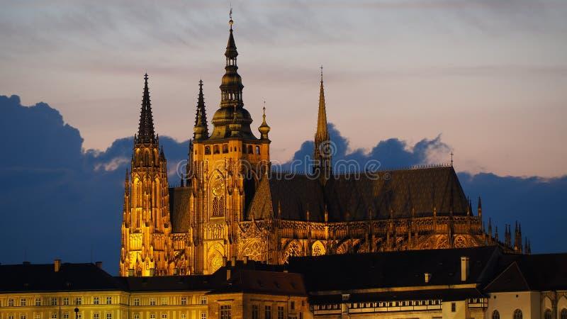 Прага, Чешская Республика Столичный собор Святых Vitus стоковое фото