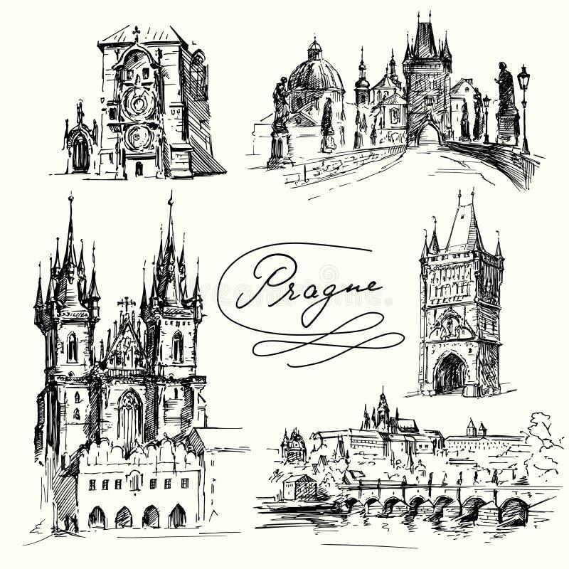 Прага бесплатная иллюстрация
