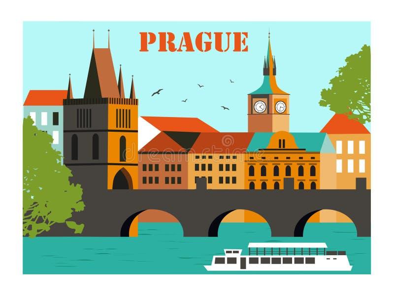 Прага иллюстрация вектора