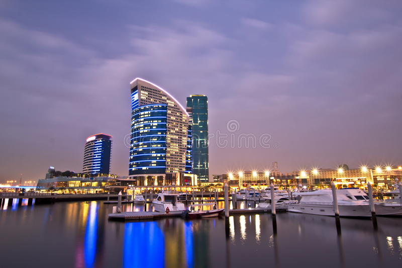 празднество Дубай города стоковое изображение
