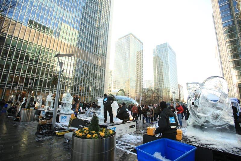 Празднество льда ваяя - Лондон 2012 стоковая фотография rf