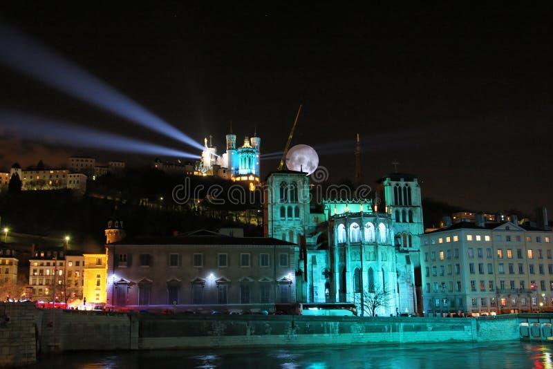 празднество освещает lyon стоковая фотография rf