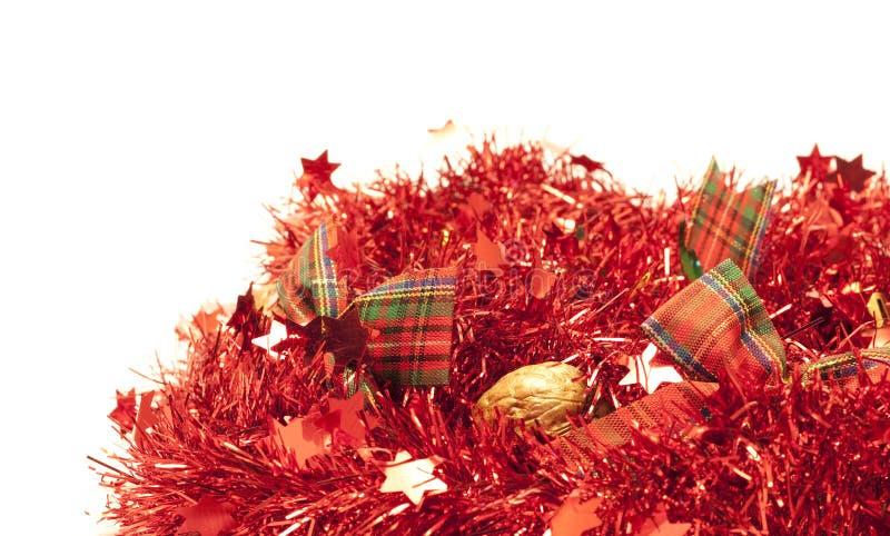 праздники гирлянд счастливые красные стоковое изображение