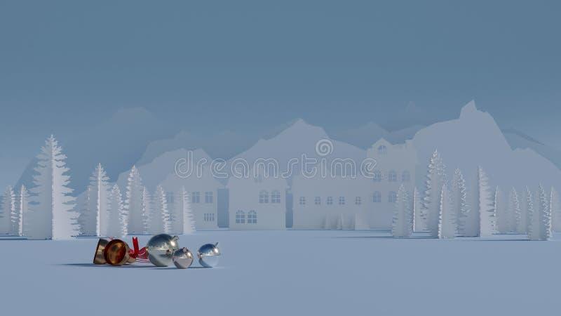 Праздники зимы счастливые иллюстрация вектора