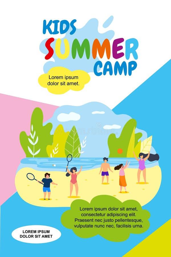 Праздники летнего лагеря детей иллюстрации вектора иллюстрация штока