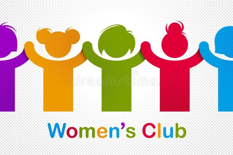 Праздник дня женщин 8-ое марта международный, женская концепция солидарности, бой для допуска прав и равность, феминизм, сила дев иллюстрация вектора