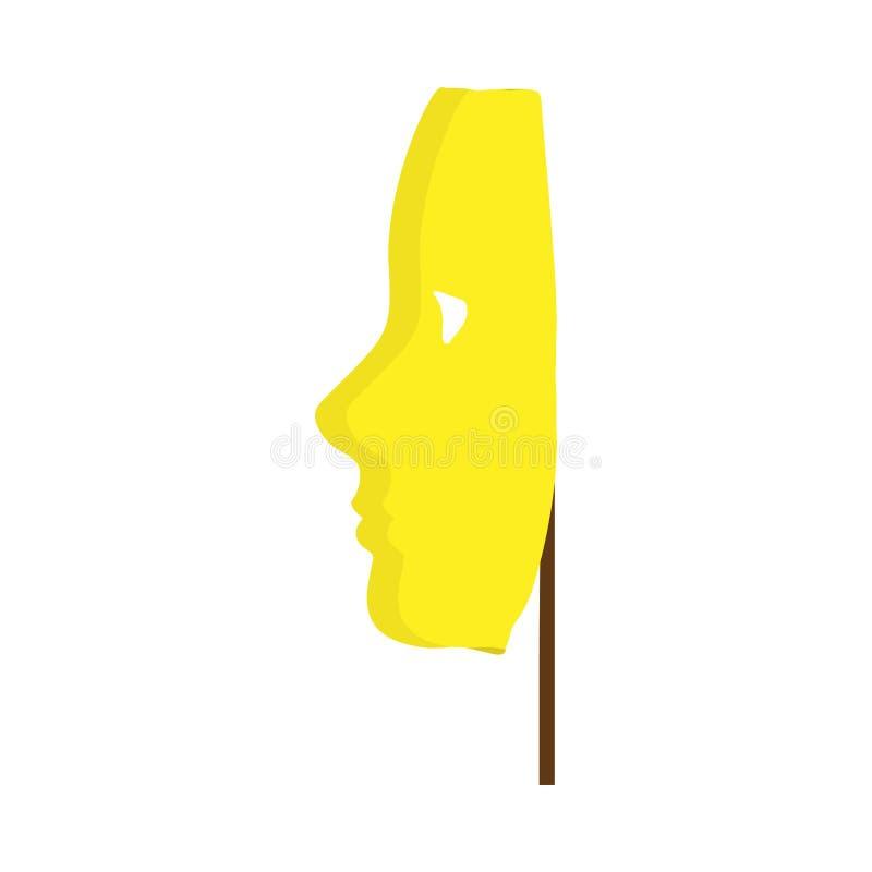 Праздник значка вектора партии торжества маски масленицы Сторона тайны украшения фестиваля костюма Masquerade венецианская иллюстрация вектора