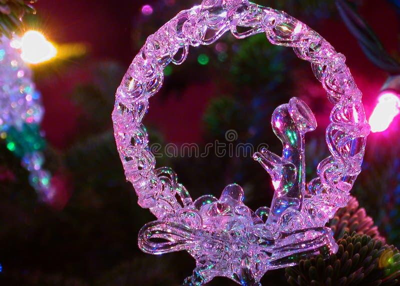 праздник освещает орнамент рождества стоковые изображения rf