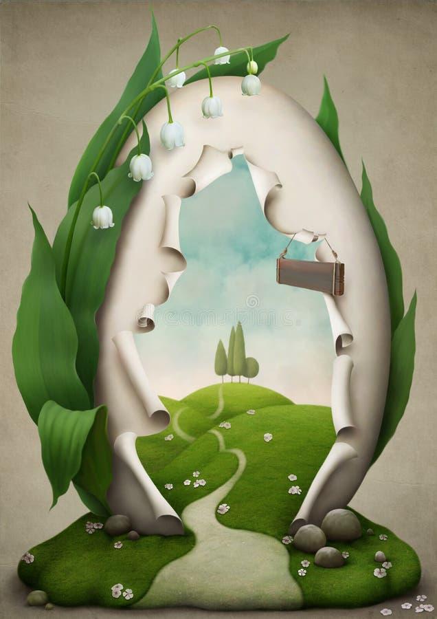 праздник пасхального яйца к путю иллюстрация штока