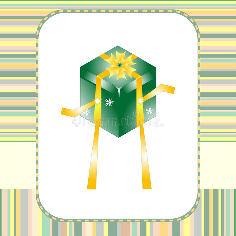 праздник приветствию подарка танцульки карточки коробки иллюстрация штока