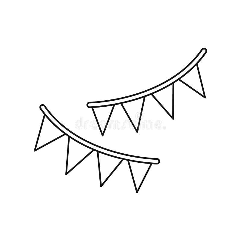 Праздник сигнализирует значок, стиль плана иллюстрация штока