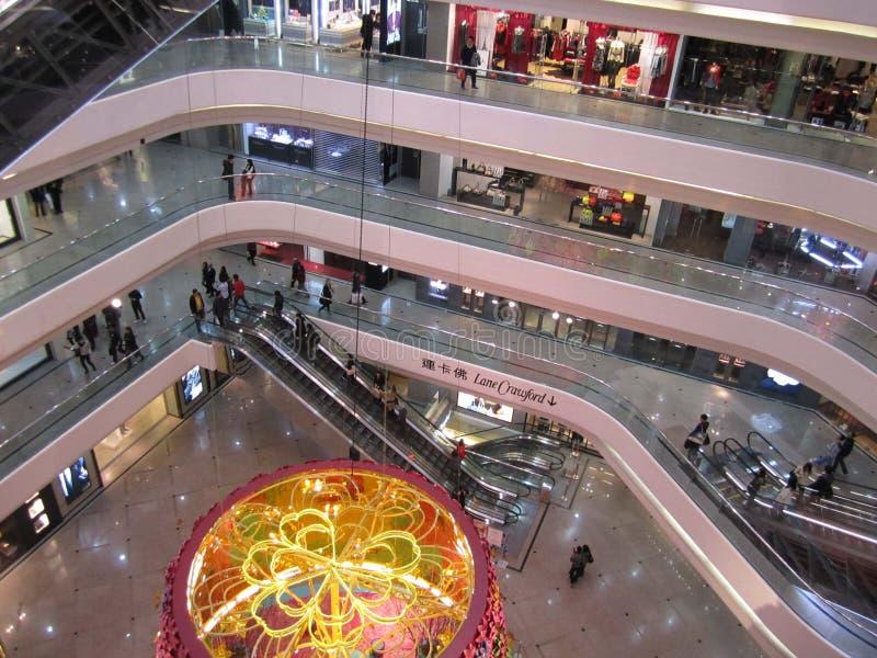 Праздник торгового центра Гонконга грузя стоковые изображения rf