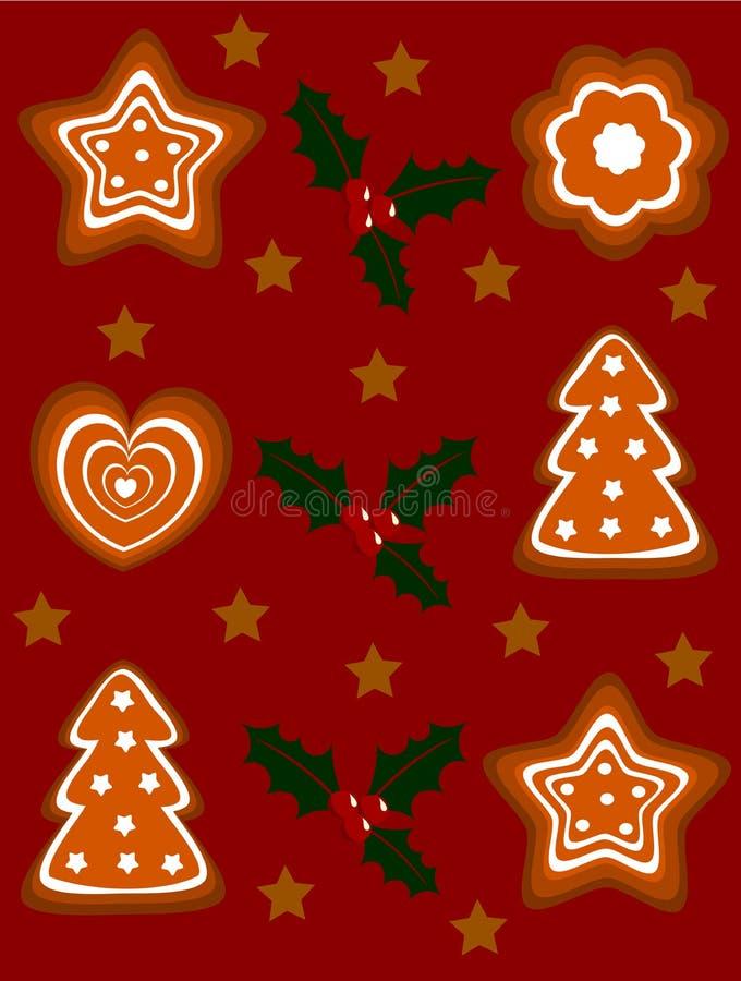 праздник gingerbread предпосылки иллюстрация штока