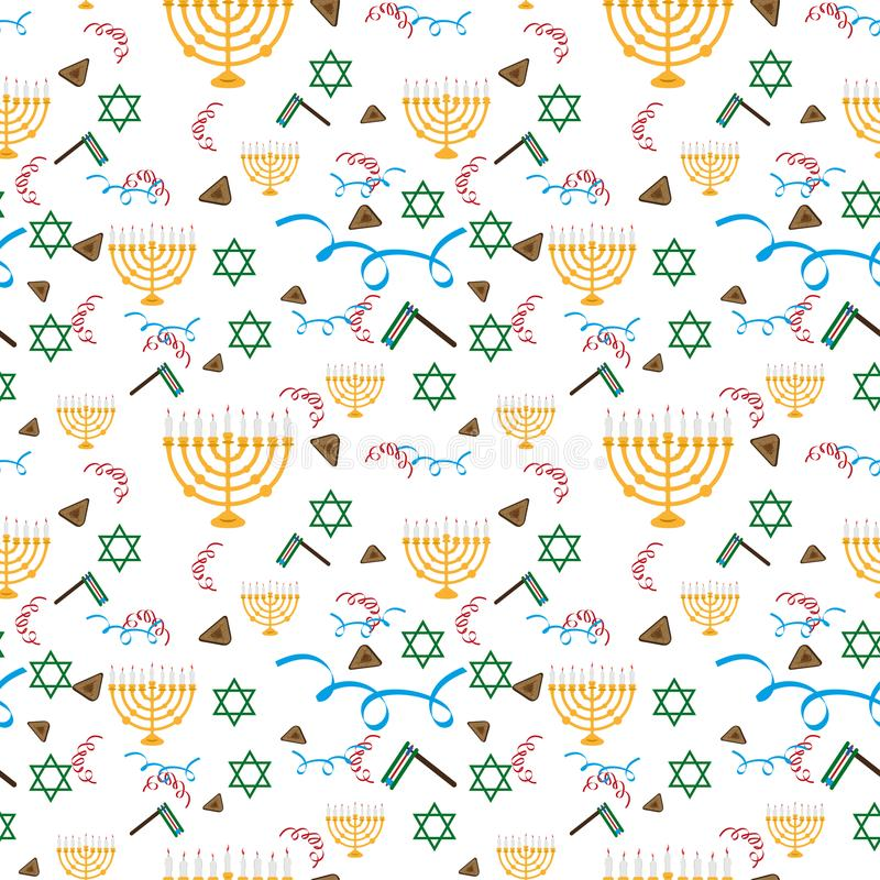 Праздник Purim, предпосылка с праздничными символами, вектор бесплатная иллюстрация