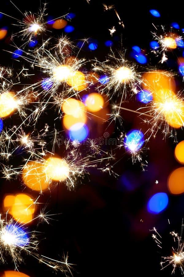 праздничная предпосылка bokeh бенгальского огня стоковая фотография rf