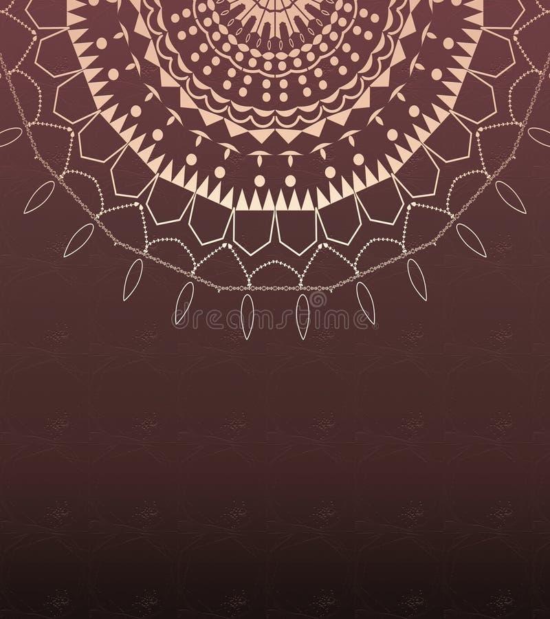 Праздничная роскошная карта мандалы Картина руки вычерченная Декоративная цифровая стильная бумага бесплатная иллюстрация