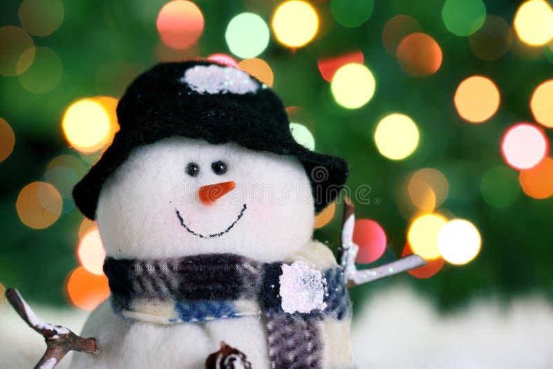 праздничный снеговик стоковая фотография
