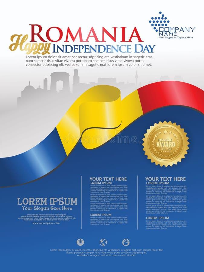 Праздновать День независимости Румынии Абстрактный развевая флаг на  бесплатная иллюстрация