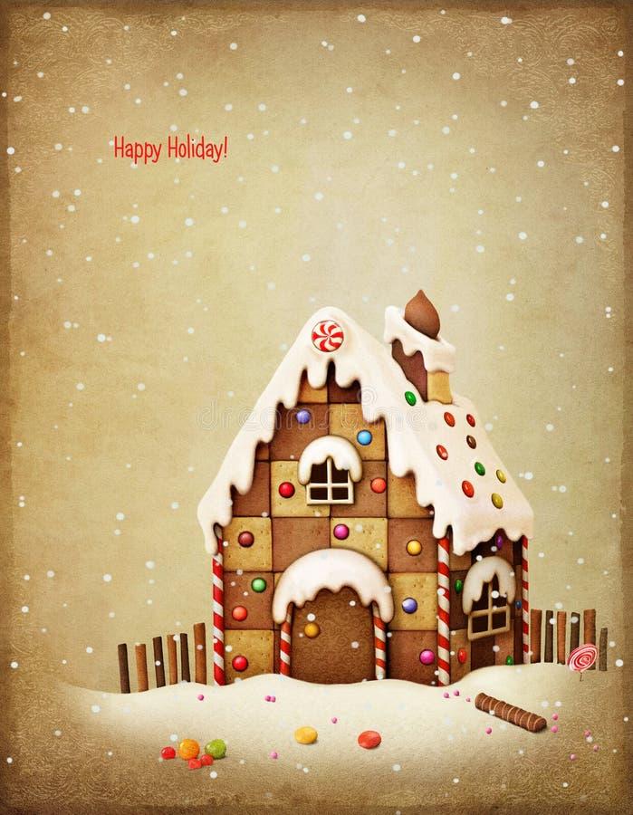 праздники gingerbread рождества застекляя расквартировывают подготовки кладя женщину валов бесплатная иллюстрация