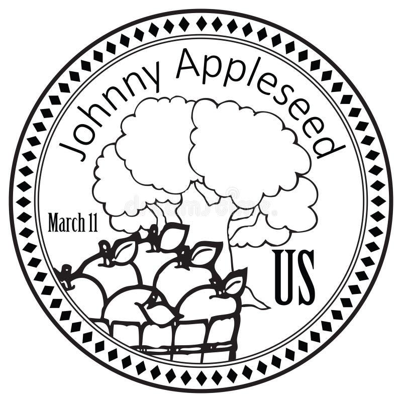 Праздник Джонни Appleseed иллюстрация вектора