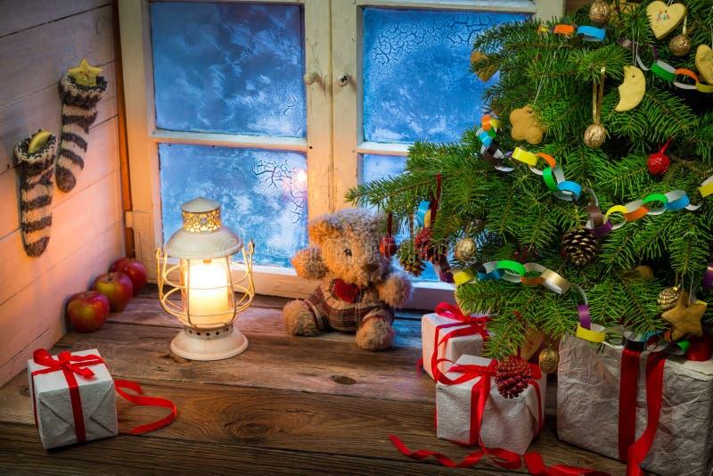 Праздник рождества в сельской местности стоковая фотография rf