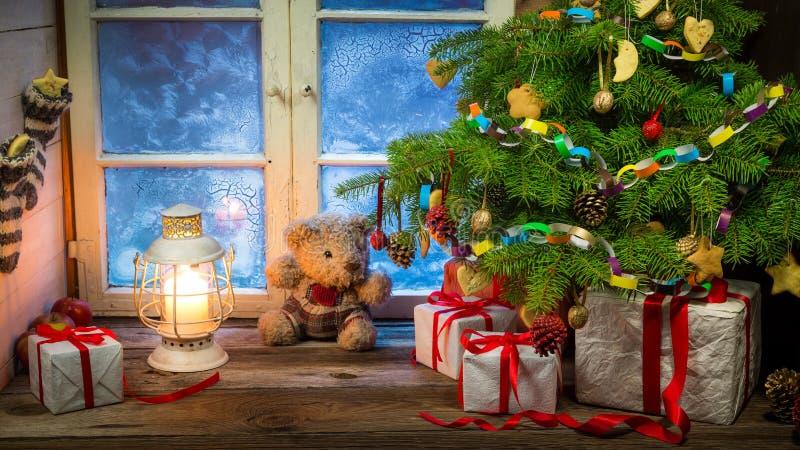 Праздник рождества в сельской местности стоковая фотография