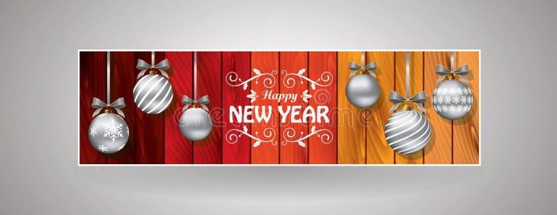 Праздничная закладка Нового Года и рождества бесплатная иллюстрация
