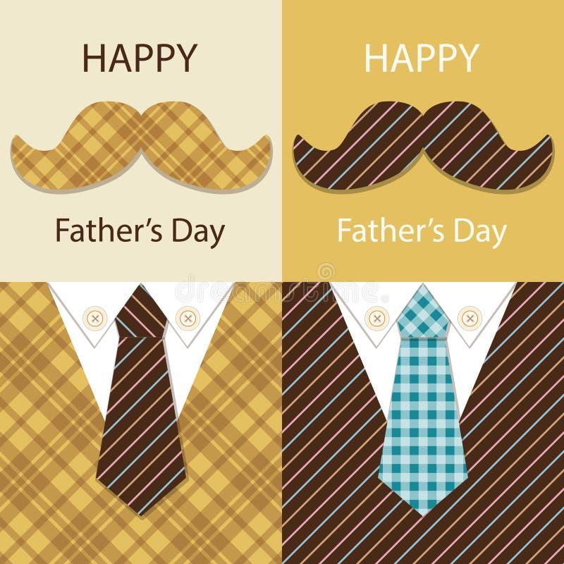 Праздничная ретро поздравительная открытка на день ` s отца иллюстрация вектора