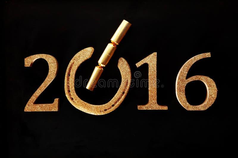 Праздничная удачливая предпосылка 2016 Новых Годов стоковые фото
