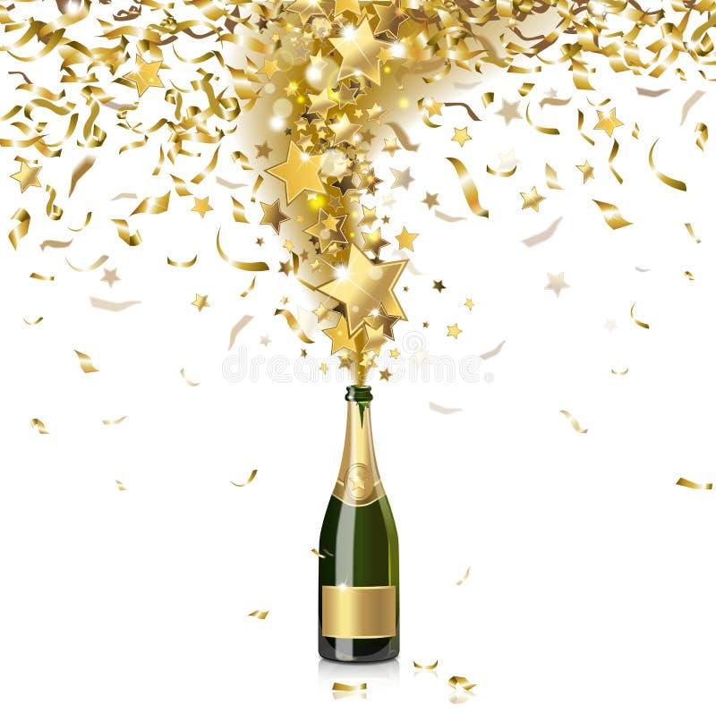 Праздничное шампанское бесплатная иллюстрация