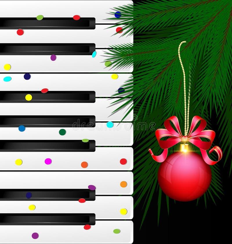Праздничные ключи и красный шарик иллюстрация вектора