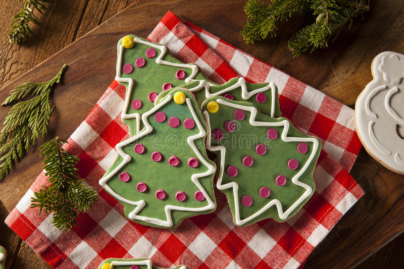 Праздничные домодельные печенья рождества стоковые изображения rf