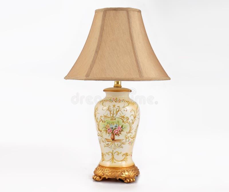 Праздничный подарок, классическая настольная лампа приведенная, лампа стола, освещение стола, свет искусства, лампа искусства, ¼  стоковая фотография