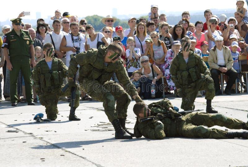 Праздновать день воздушного флота России, pe демонстрации стоковые изображения