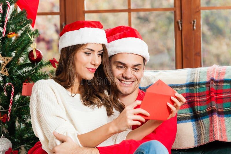 Празднующ рождество совместно стоковая фотография