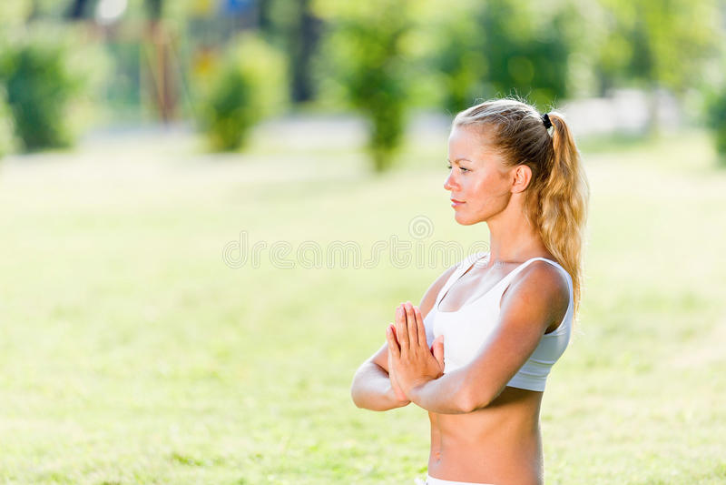 Download Практика йоги стоковое фото. изображение насчитывающей lifestyle - 41650220
