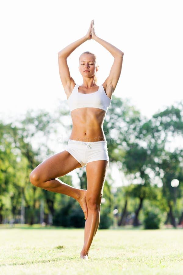 Download Практика йоги стоковое фото. изображение насчитывающей мир - 41652456