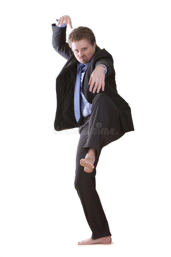 Download практиковать Kung Fu бизнесмена Стоковое Фото - изображение насчитывающей изолировано, выражение: 6863016