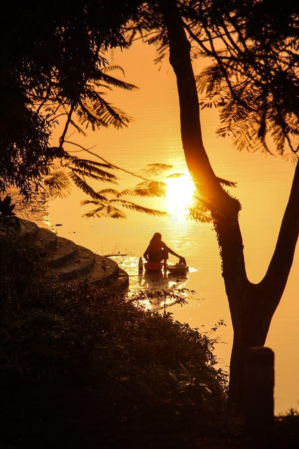 Прачечная восхода солнца стоковые изображения