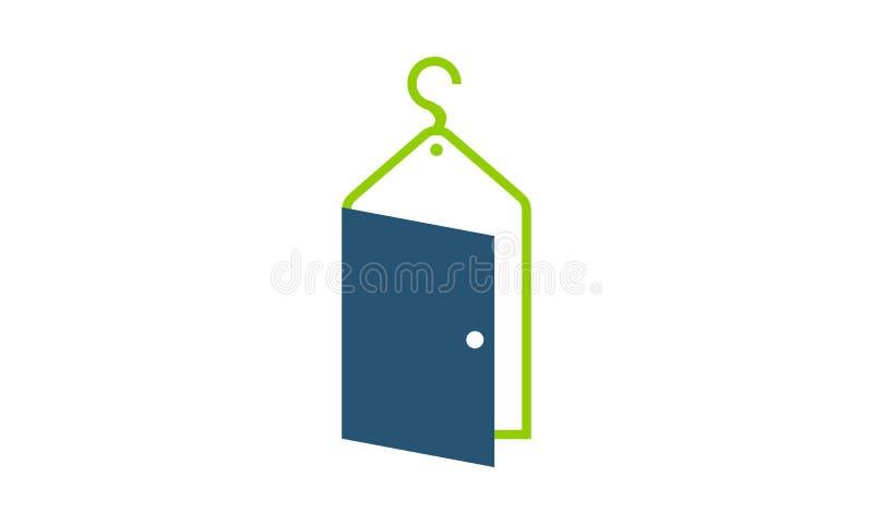 Прачечная двери иллюстрация вектора